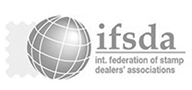 "Wir sind Mitglied : ""The International Federation Of Stamp Dealers Associations [EN]"""""