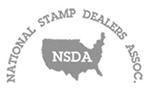 """Nous sommes membres """"National Stamp Dealers Associations [EN]"""""""