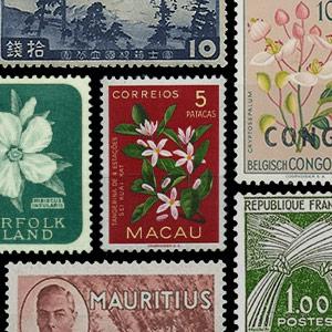 Thématique de collection -Timbres-poste - Végétaux