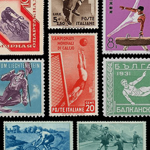 Collection theme - Postage stamps - Sports