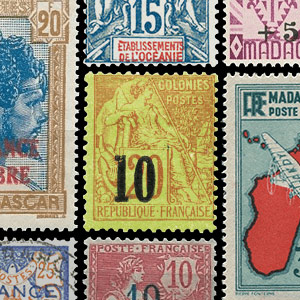 Francobolli - Francia (vecchie Colonie e protettorati)