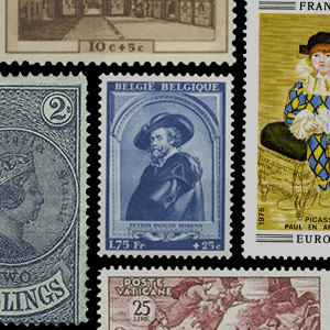 Collection theme - Postage stamps - Art