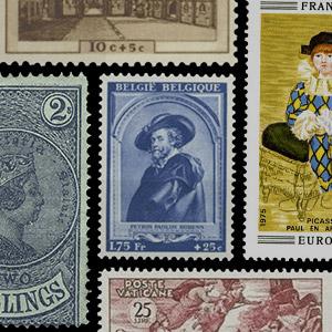 Verzamelingsthema - Postzegels - Kunst
