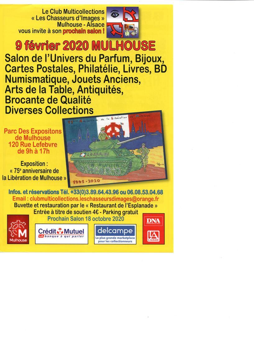 Salon De L'Univers Du Parfum Bijoux Carte Postale Philatélie Numismatique Jouets Anciens Arts De Table Antiquités Brocante De Qualité Et Diverses Collections