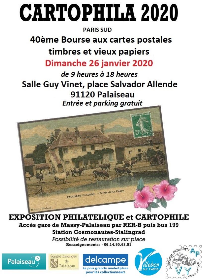 CARTOPHILA 2020 - 40ème Bourse Aux Cartes Postales Et Vieux Papiers