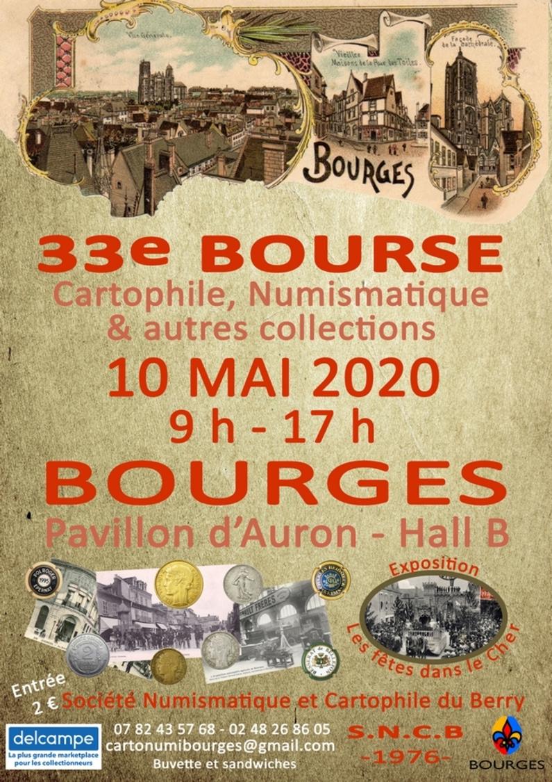 33ème Bourse Cartophile Numismatique Et Autres Collections De Bourges