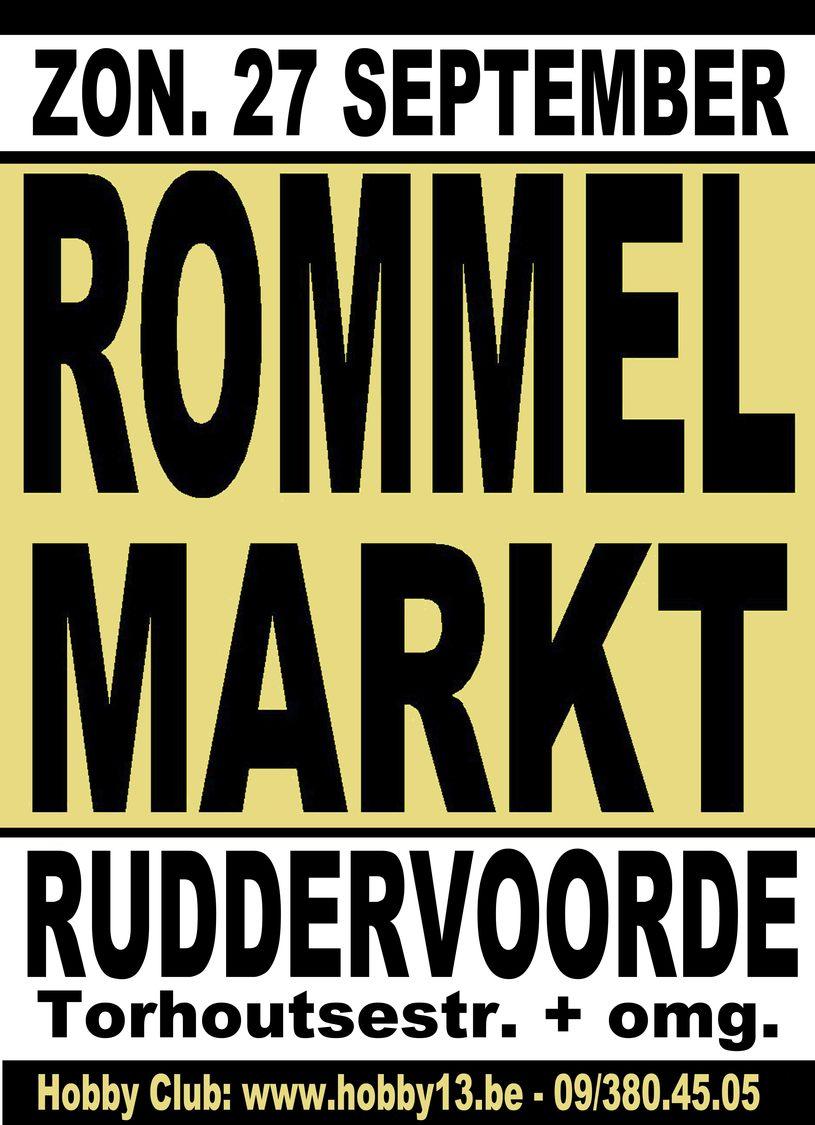Open Lucht Rommelmarkt Te Ruddervoorde