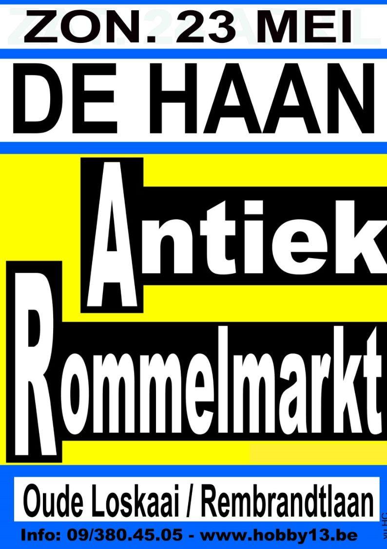 Antiek & Rommelmarkt Te De Haan