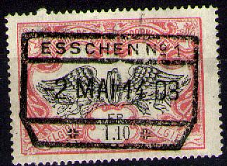 Es449:N°SP42:[°]:3-raamstempel:ESSCHEN - 1895-1913