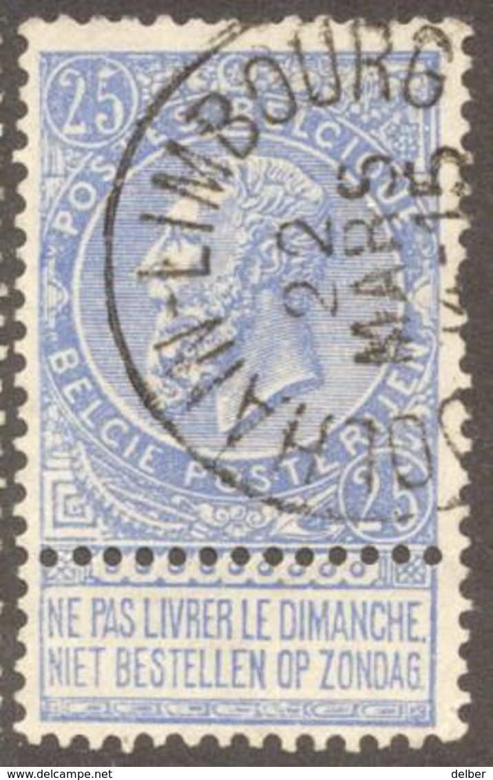 Fb290:N°60:[°]:E11:DOLHAIN-LIMBOURG - 1893-1900 Fine Barbe