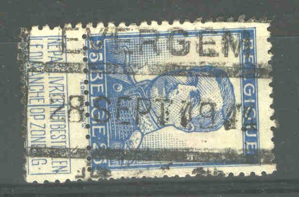 Timbre 25c PELLENS CH De FER EVERGEM 28/9/14 -NON ENVAHI(137) - Invasion