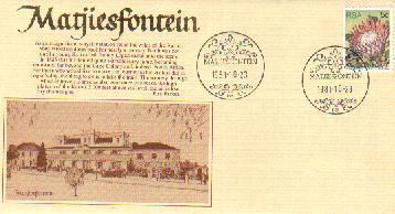 RSA 1981 Enveloppe Matjesfontein Mint # 1456 - Monuments