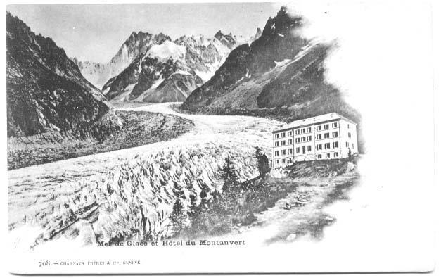 74  MER DE GLACE ET HOTEL DU MONTANVERT EDITEUR SUISSE  CARTE PRECURSEUR - Hotels & Restaurants