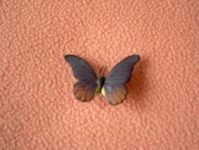 Magnet Papillon Brun Et Mauve En Résine - Neuf - Ref 7594 - Magnets