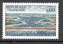 TIMBRE MNH FRANCE ÉLECTRICITÉ USINE MAREMOTRICE DE LA RANCE CENTRALE - Electricidad