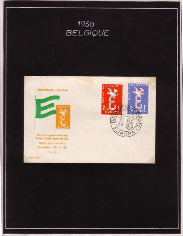 EUROPA 57 BELGIQUE - 1957