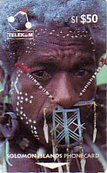 SALOMON PEOPLE OF SOLOMON 50$ UT RARE GROSSE FACIALE - Solomon Islands