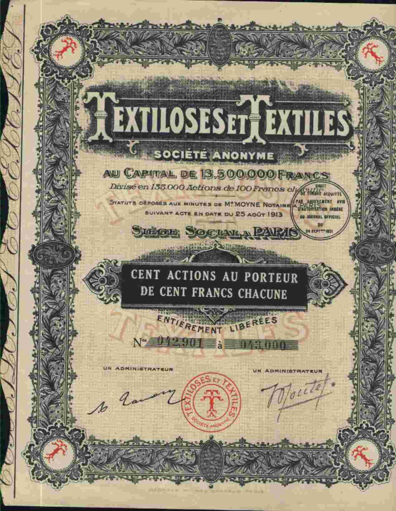 TEXTILOSES ET TEXTILES  § - Textile
