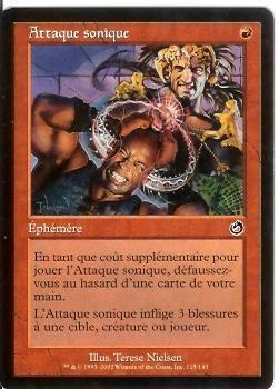 Attaque Sonique    Tourment - Carte Rosse