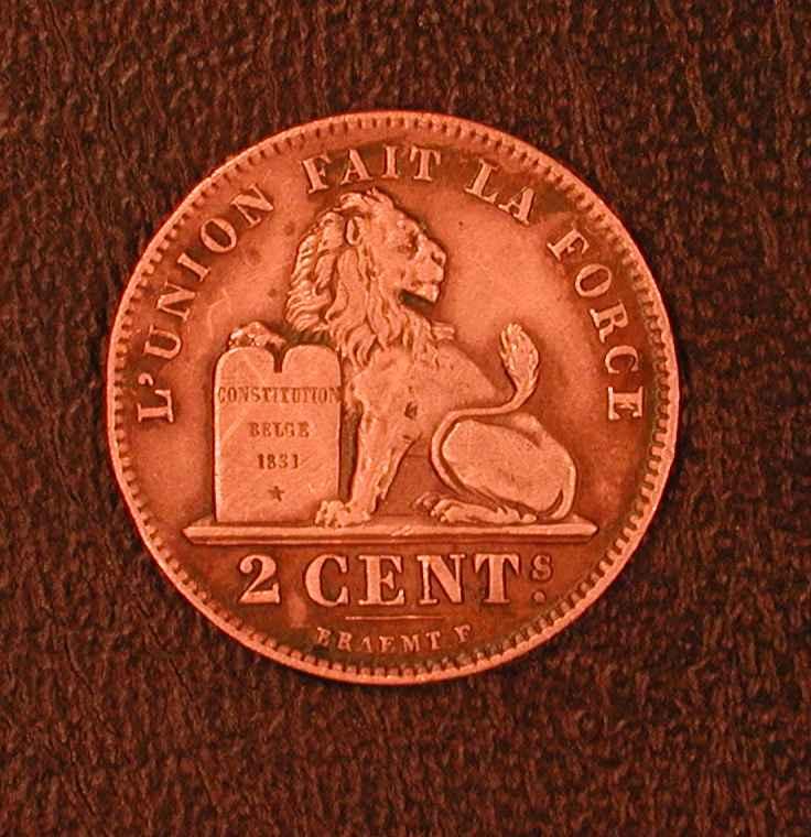 Belgique 2 Cts 1912  Fr - 02. 2 Centimes