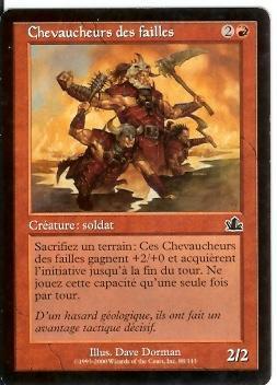 Chevaucheur Des Failles - Carte Rosse