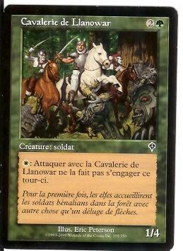 Cavalerie De Lianowar - Cartes Vertes