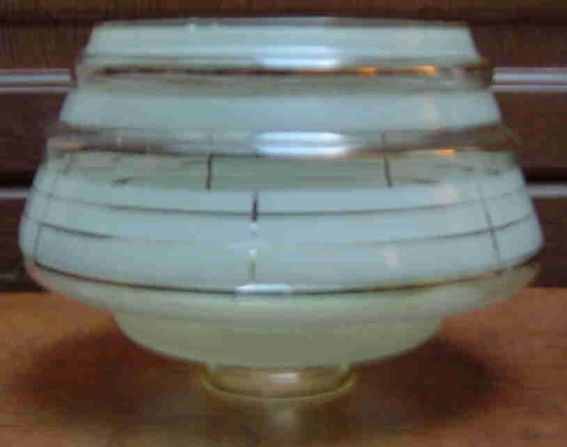 4 Abat Jour Verre Opaque Et Filet Doré - Luminaires