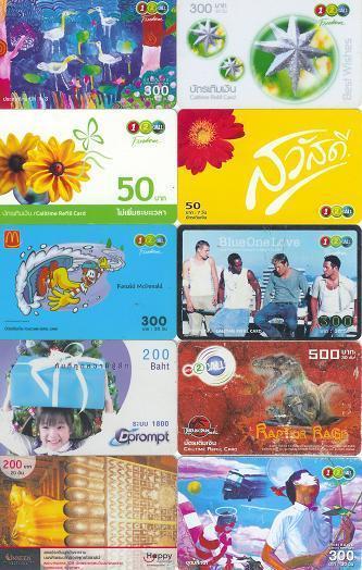 THAILAND 10 Different Used Telephonecards #16 - Thaïlande