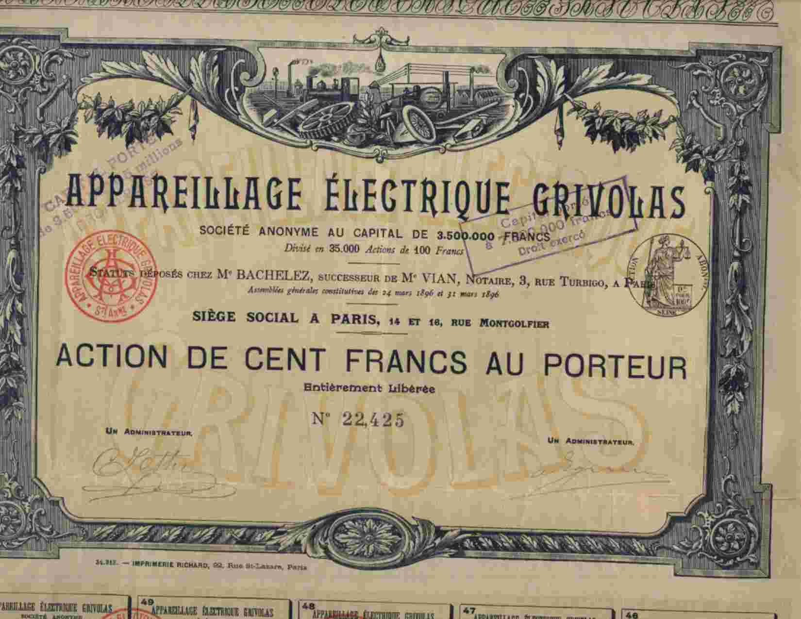 DECO : APPAREILLAGE ELECTRIQUE GRIVOLAS - Electricité & Gaz