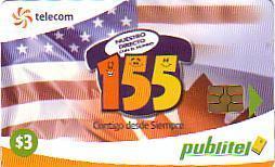 EL SALVADOR AMERICAN FLAG DRAPEAU AMERICAIN 3$ PUBLITEL - El Salvador