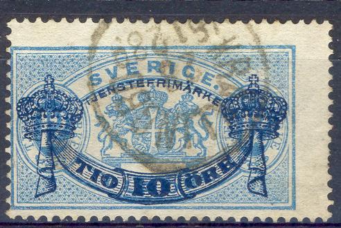 Fv1095: SVERIGE:Y.&T.N° S 13 (A) : Perfor:13 - Service