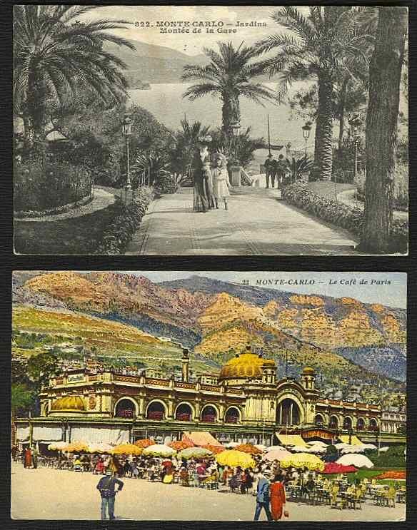 MONACO, 5 CARTES ~1914-32 - Non Classés