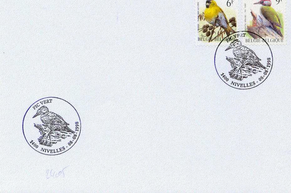 2405 Lettre Belge FDC - Vogels