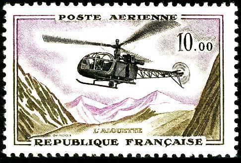 ".Yvert P.A. 41 - Helicoptere ""Alouette"") [*] - Posta Aerea"