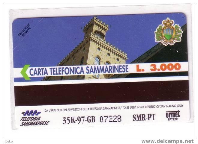 SAN MARINO  - Zodiac - Horoscope - Zodiaque - Zodiacs - Zodiaques - Castle - Chateau - Palace -  TORO - RARE & MINT Card - Saint-Marin