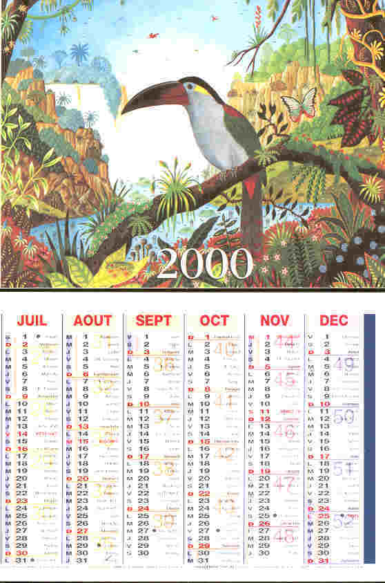 Calendrier An 2000 - Illustration Alain Thomas - ( Pub. Pharmacie ) - Calendars