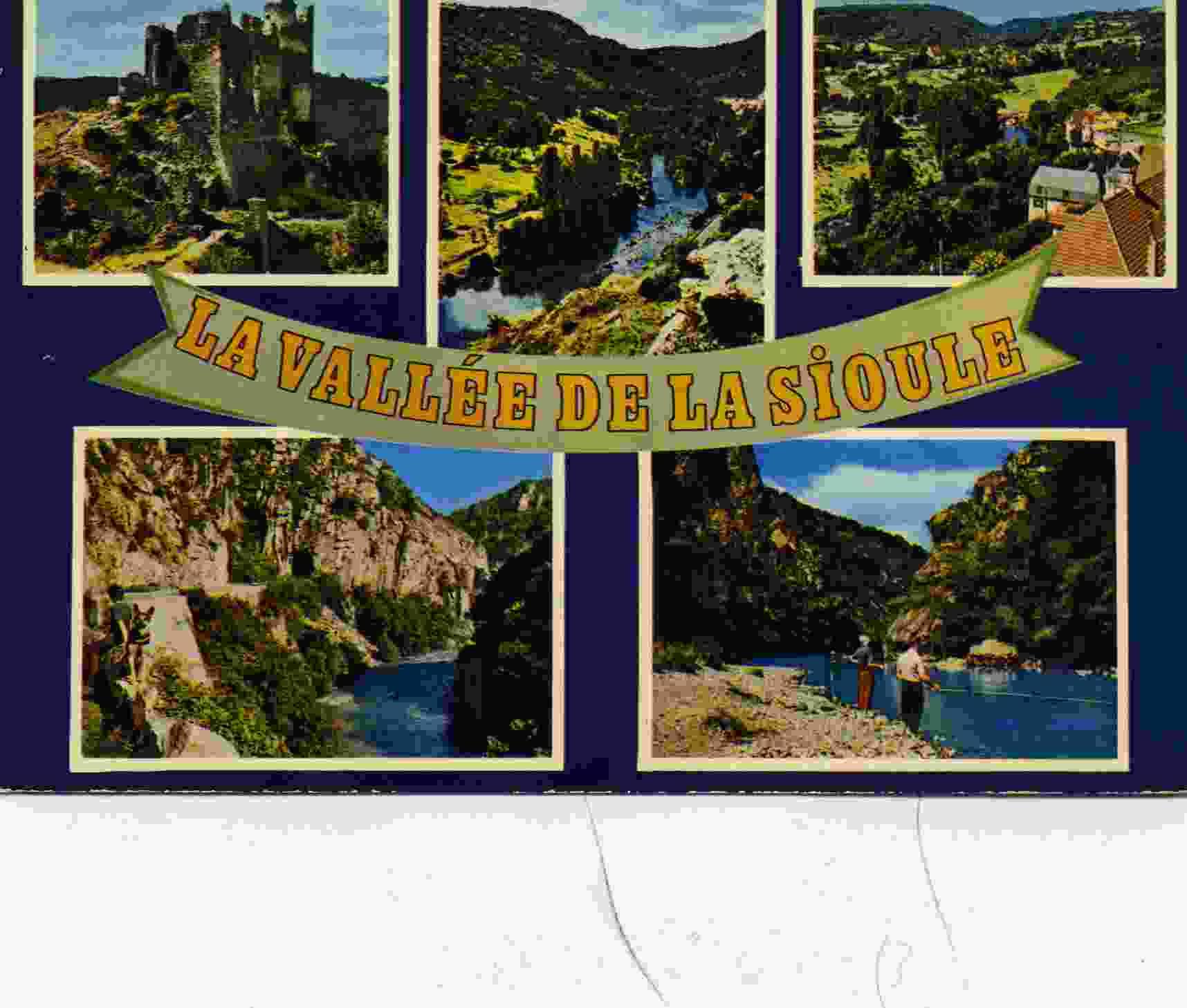 03- VALLEE De La SIOULE - 5 Vues En Une Carte - Années 70/80 - France