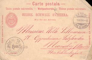 ENTIER POSTAUX CARTE POSTALE SUISSE SCHWEIZ SVIZZERA TO BAYERN - Interi Postali