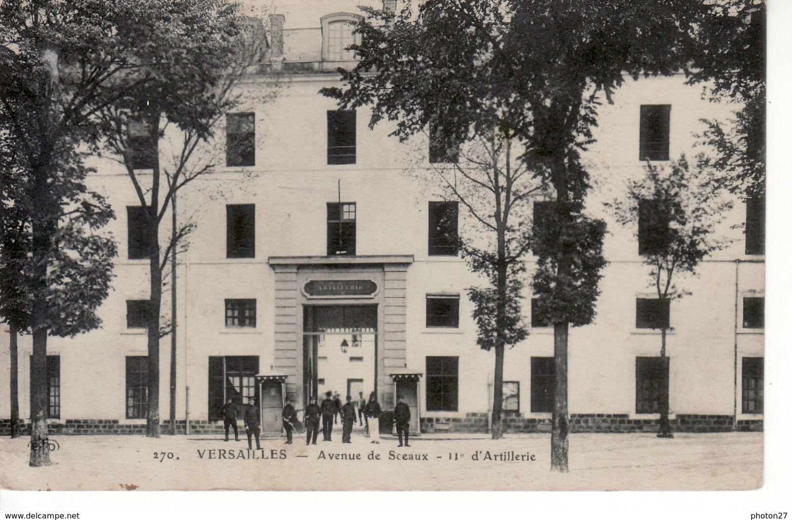 Versailles, Avenue De Sceaux, 11ème D'artillerie (caserne, Militaires) - Versailles