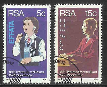 SOUTH AFRICA 1981 CTO Stamp(s) Deaf & Blind 587-588 #3557 - Handicaps