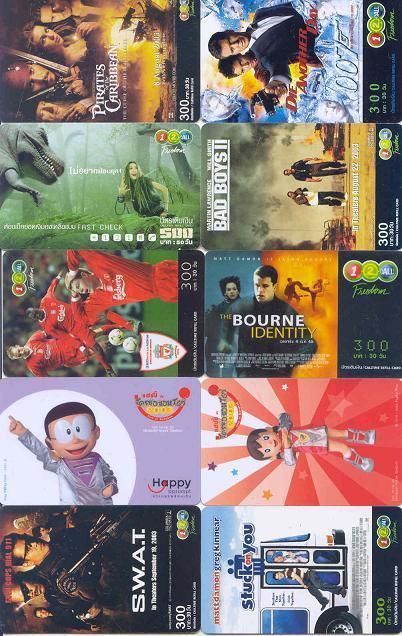 10 Telefoonkaarten Uit THAILAND (19) - Thaïlande