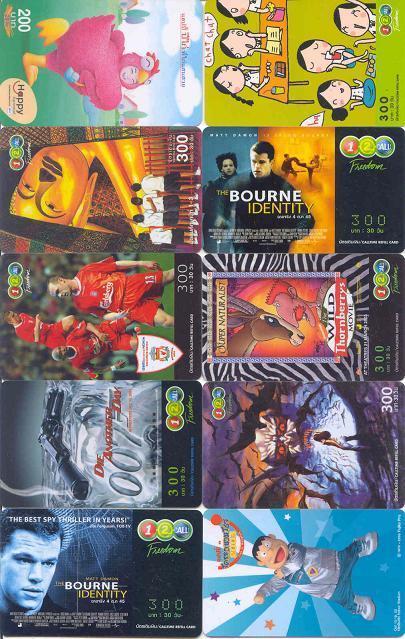 10 Telefoonkaarten Uit THAILAND (29) - Thaïlande