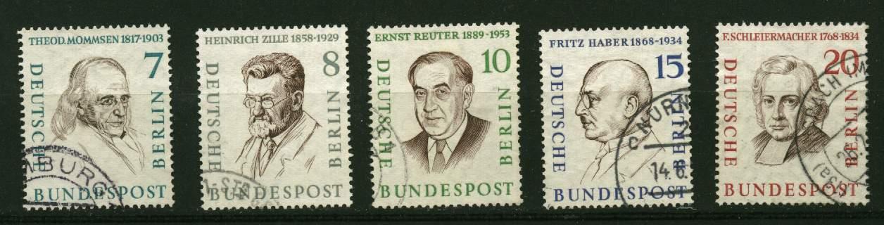 Allemagne  Berlin ** N° 144 à 151 -  Berlinois Célèbres - Oblitérés