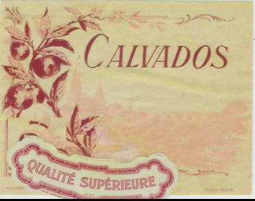 298/ ETIQUETTE ANCIENNE  DE CALVADOS  (avec Sa Collerette) - Labels