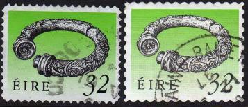 Ireland, Scott # 794a & 794b Used, 2 Varietites, 1991 - Ireland