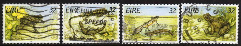 Ireland, Scott # 982B-E  Used  Set Amphibians, 1995 - Ireland