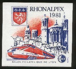 France . Bloc CNEP N° 2 - RHONEALPEX 1981 - - CNEP