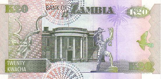 ZAMBIE   20 Kwacha  Daté De 1992   Pick 36a  Signature 10    *****BILLET  NEUF***** - Zambia