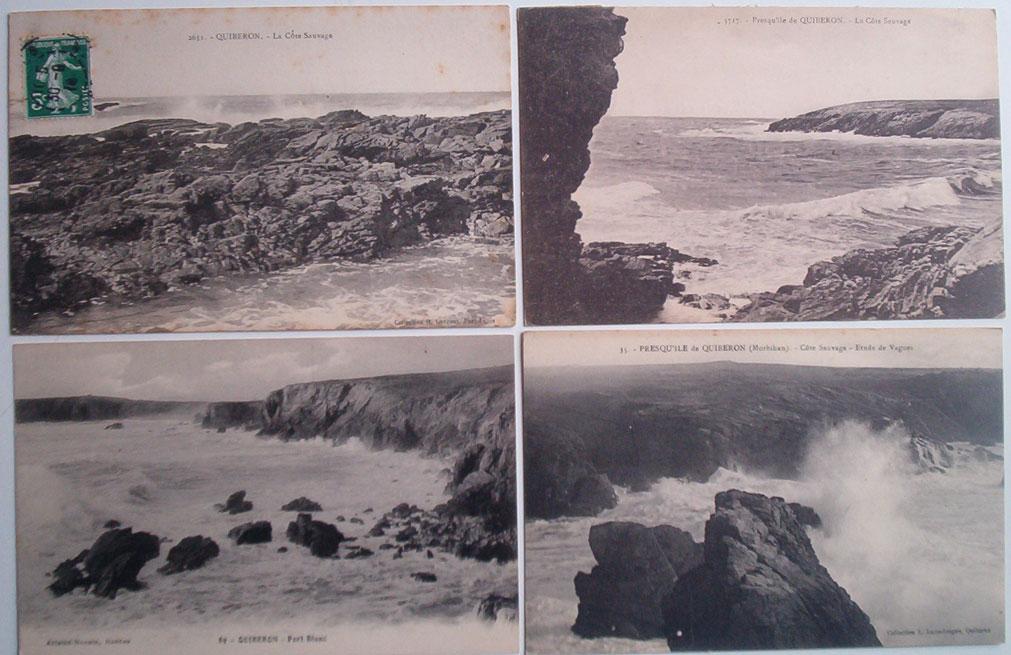 France - Morbihan Presqu'île De Quiberon : Lot De 13 Cartes. - 5 - 99 Postcards