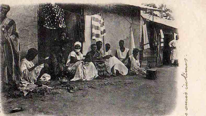 AFRIQUE. COTE D´IVOIRE. ABOISSO. Mercantis Dioulas. - Côte-d'Ivoire